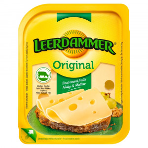 Syr LEERDAMMER originál plátky 45% 100g OA 3
