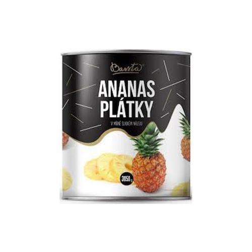 Ananásový kompót - plátky 3100ml 1