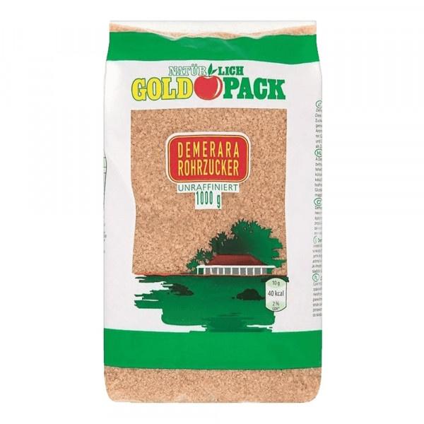 Cukor trstinový Demerara GOLD PACK 1kg 1