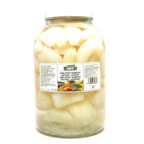 Kompót jablkový - štvrťky ADY 3720ml 1