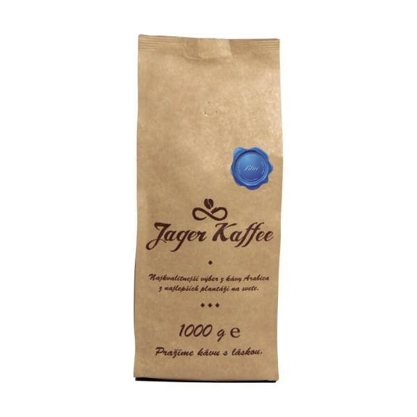 Káva Jager Kaffee modrá 100% Arabica 1kg zrno 1