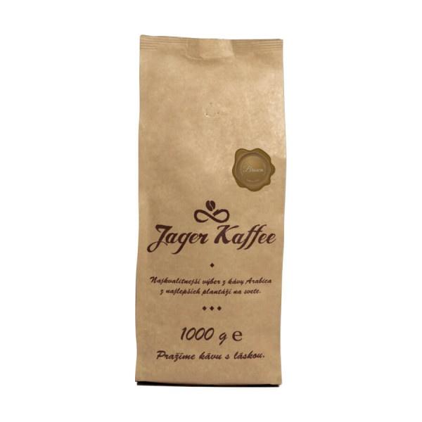 Káva Jager Kaffee hnedá 70% Arabica 1kg zrno 1