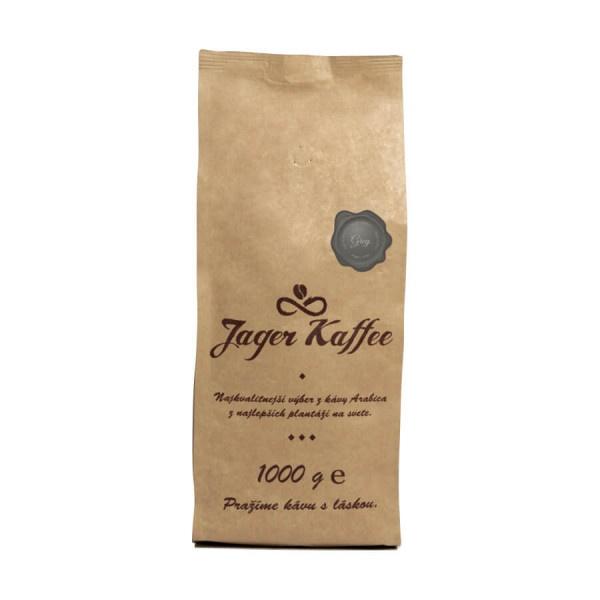 Káva Jager Kaffee sivá 60% Arabica 1kg zrno 1