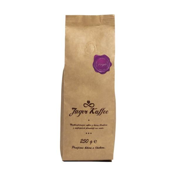 Káva Jager Kaffe fialová 90% Arabica 250g zrno 1