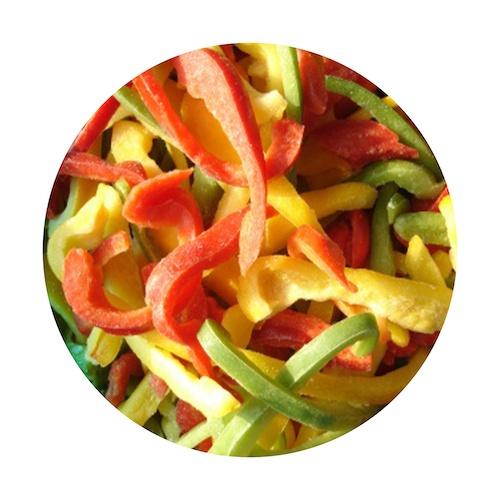 Mrazená paprika farebná rezy VIKING FROST 2,5kg 1