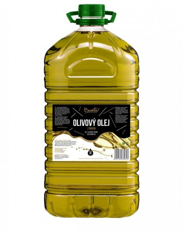 Olej olivový, Bassta 5 l plast 1