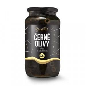 Olivy čierne krájané, Bassta 953 g sklo 6