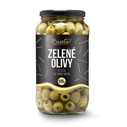 Olivy zelené celé bez kôstky, Bassta 953 g sklo 1