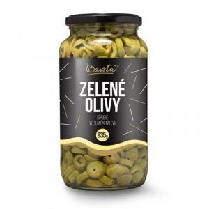 Olivy zelené krájané, Bassta 953 g sklo 4