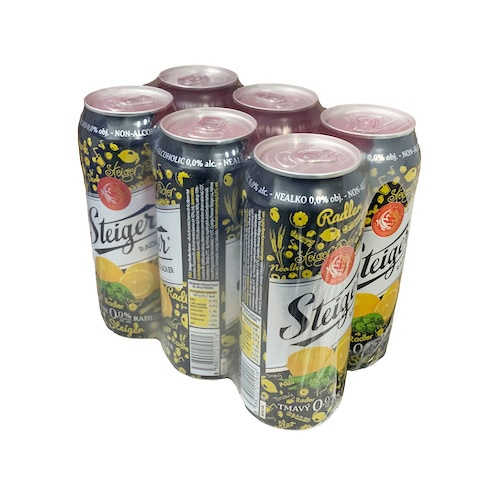 Pivo STEIGER nealko tm. citrón 0,5l plech 6ks bal. 1