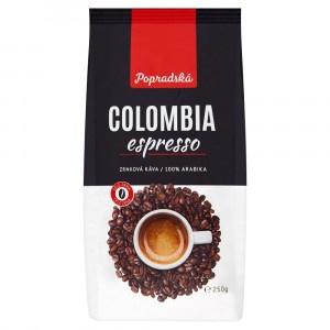 Popradská Colombia Espresso praž. zrnk. káva 250 g 6