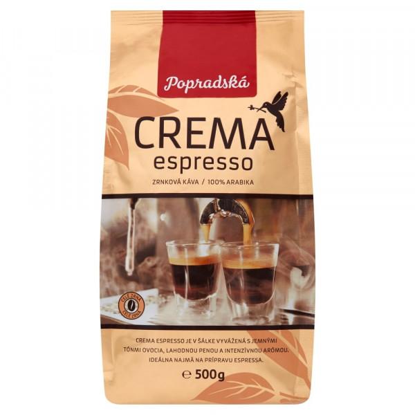 Popradská Crema Espresso zrnková káva 500 g 1
