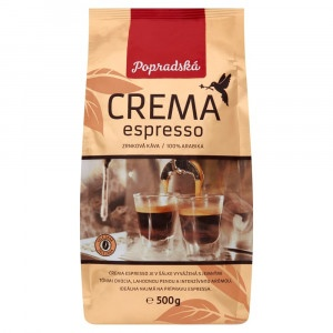 Popradská Crema Espresso zrnková káva 500 g 2