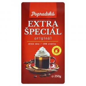 Popradská Extra špeciál pražená mletá káva 250 g 6