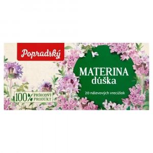 Popradský Materina dúška bylinný čaj 20x1,5g 4