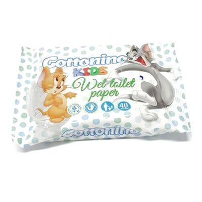 Cottonio Kids, toaletný papier vlhčený 40 ks 1