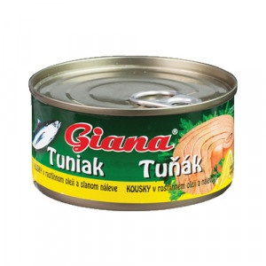 Tuniak v oleji kúsky GIANA 185g 6
