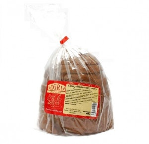 Chlieb kváskový tmavý krájaný balený EGRI 450g 6