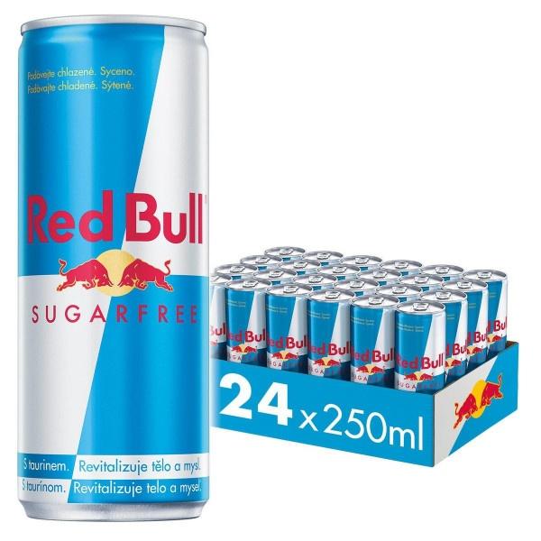 Red Bull Energy drink Sugarfree 250ml plech 2