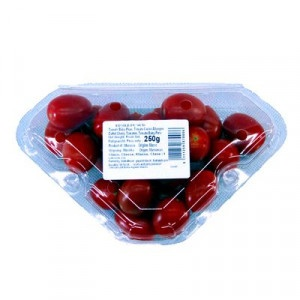 Paradajky Cherry červené oválne 250g 1