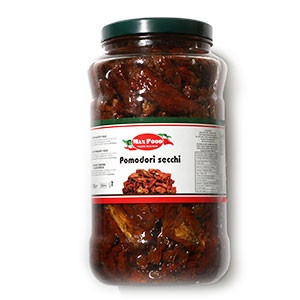 Paradajky sušené v oleji MAX FOOD 2900g sklo 2