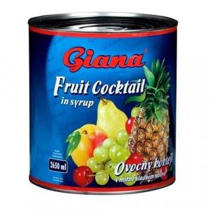 Kompót ovocný koktail GIANA 2650ml 6