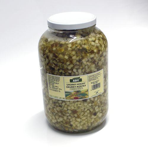 Uhorky sterilizované kocky ADY 3200g 1