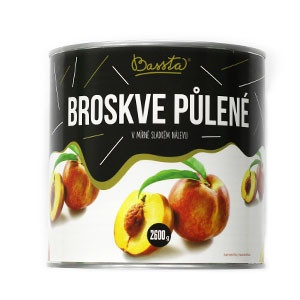 Kompót broskyňový - polené BASSTA 2600g 5