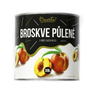 Kompót broskyňový - polené, Bassta 2600 g 1