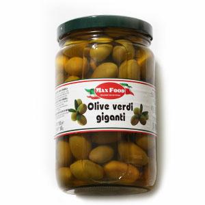 Olivy zelené veľké Cerignola MAX FOOD 1550g sklo 1