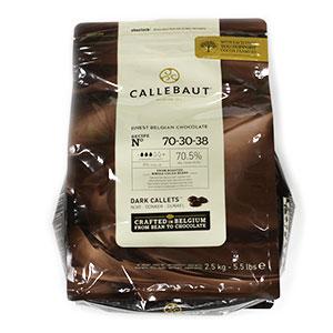 Čokoláda tmavá 70% CALLEBAUT 2,5kg 1