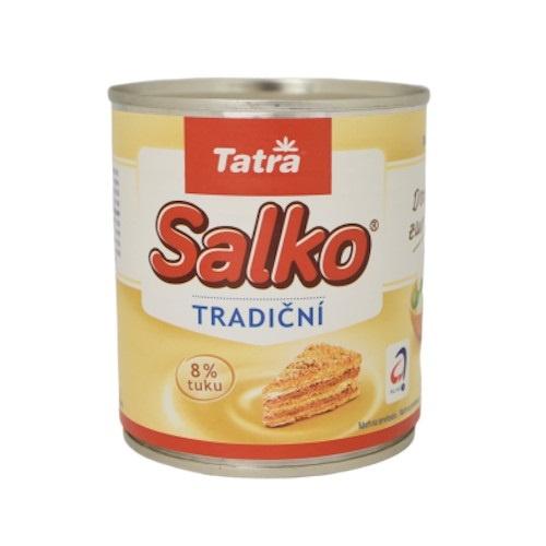 Salko kondenzované mlieko slad. TATRA 397g 1