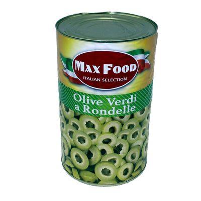 Olivy zelené krájané MAX FOOD 4250g plech 1