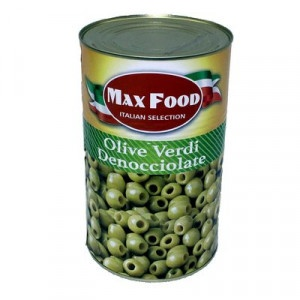 Olivy zelené celé bez kôstky MAX FOOD 4100g plech 7