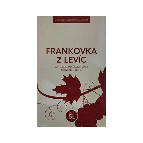 Víno červené box FRANKOVKA Z LEVÍC -VÍNO LEVICE 5l 1
