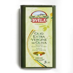 Olej olivový extra vergine DIVELLA 3L plech 1