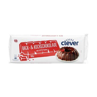 Čokoláda horká na varenie CLEVER AT 400g 1