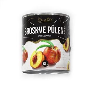 Kompót broskyňový - polené, Bassta 820 g 13