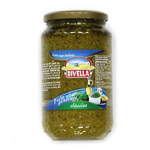 Pesto bazalkové DIVELLA 550g sklo 5