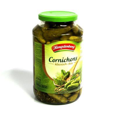 Uhorky ster. mini Cornichons HENGSTENBERG 2650ml 1