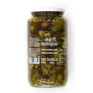Jalapeňos papričky krájané BASSTA 960g sklo 14