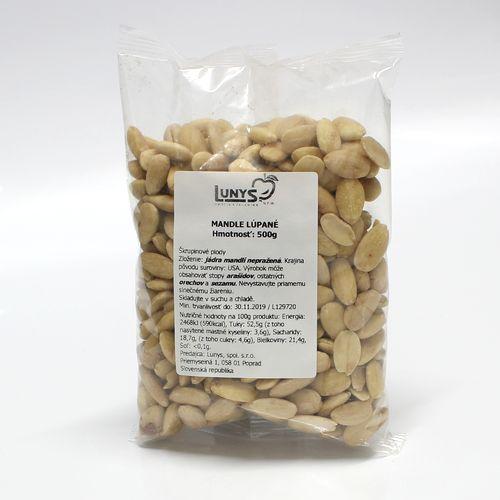 Bal.Mandlové jadrá 0,5kg / bal 1