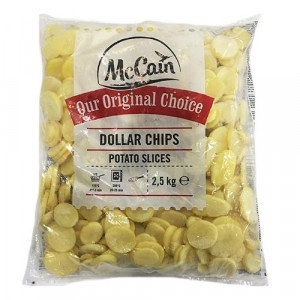 Mrazené zemiakové Dollar Chips MC CAIN 2,5kg 3