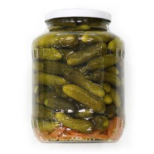 Uhorky coctailové sterilizované 3-6cm ADY 1600g 1