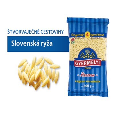 Cestoviny GYERMELYI Slovenská Ryža 500g 1