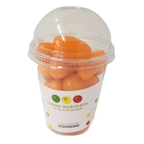 Paradajky cherry oranžové shaker 250g SK BABINDOL 1