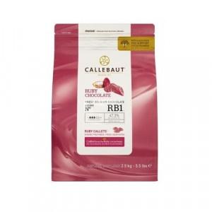 Čokoláda ružová RUBY 47,3% CALLEBAUT 2,5kg 4