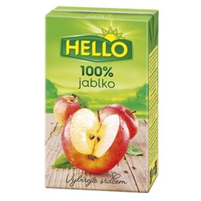Džús jablkový 100% HELLO 250ml TP 1