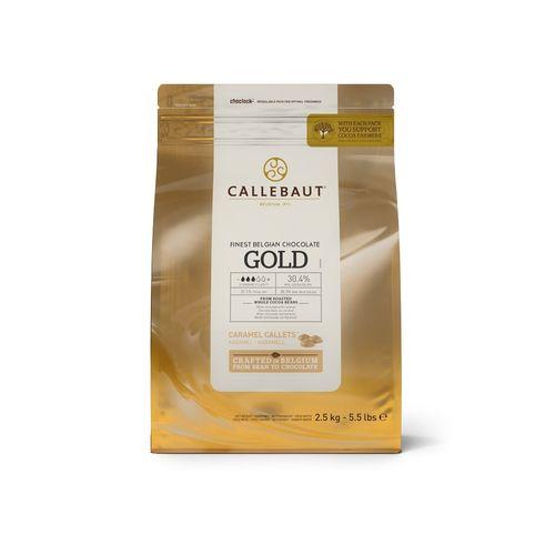 Čokoláda karamelová GOLD CALLEBAUT 2,5kg 1