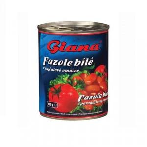 Fazuľa biela steriliz.v paradaj.omáčke GIANA 425ml 8